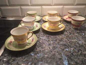Mocca/Expresso kaffe koppar och fat - Trelleborg - Mocca/Expresso kaffe koppar och fat - Trelleborg
