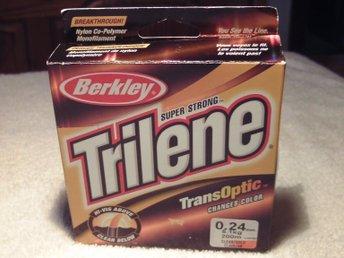 Fisklina! 200m Berkley Trilene TransOptic 0,24mm 5,1kg! Bra kvalitet Made in USA - älvsjö - Fisklina! 200m Berkley Trilene TransOptic 0,24mm 5,1kg! Bra kvalitet Made in USA - älvsjö