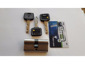 MUL-T-LOCK MT5+ High Security Euro Cylinder Lock .3 Keys And ID Card