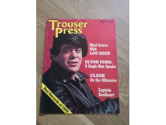Trouser Press nr 36 1979 Lou Reed Elton John The Clash