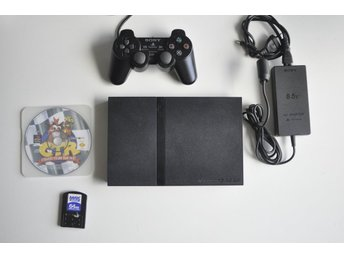 "Komplett ""PS2"" Playstation 2 SLIM + Crash Team Racing (PS1)"