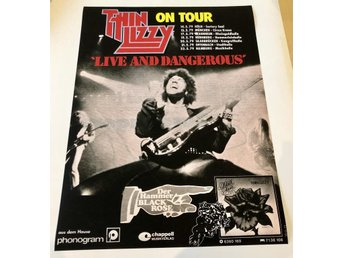 THIN LIZZY ON TOUR IN GERMANY 1979 POSTER