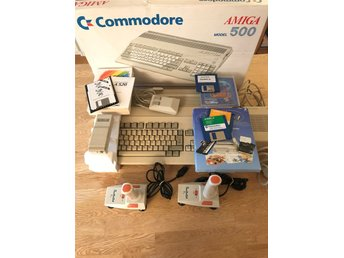 Amiga 500 i box! Komplett med laddare mm