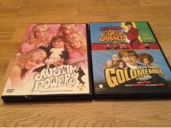 Austin Powers 1,2 och 3 - Mike Meyers - Svensk text - DVD