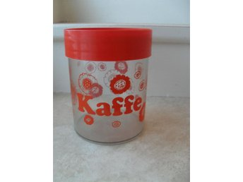 Retro kaffeburk kaffe burk plast Orange