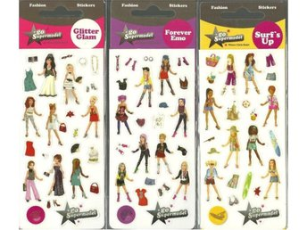 3 paket Go Supermodel - Where girls rule! - Stickers - Nya
