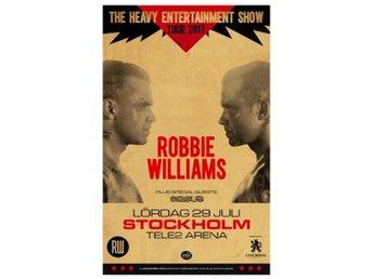 "Robbie Williams ""Golden Circle"" - Främre barrikad - ståplats nära scen! - Nacka - Robbie Williams ""Golden Circle"" - Främre barrikad - ståplats nära scen! - Nacka"