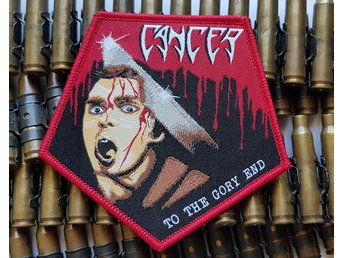 CANCER - To the gory end patch/bolt thrower/autopsy/obituary/death/morgoth/