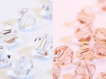 100st Tolstoy 4mm crystal bicone Crystal/Peach Rose - Duo Mix