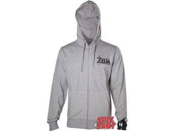 Nintendo Zelda Breath of The Wild Sheikah Eye Hoodie Grå (Medium)