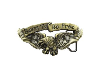 Born To Be Free Eagle Biker Spänne.