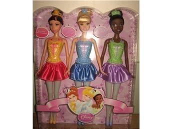Disney Princess 3-pack Belle Askungen Tiana Docka