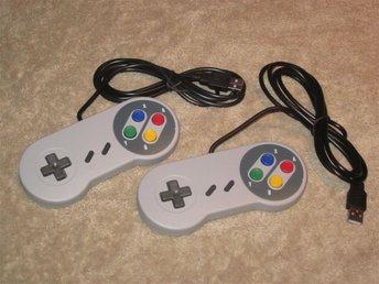 2st Handkontroll/gamepad Super Nintendo SNES USB - NYA! - Ekerö - 2st Handkontroll/gamepad Super Nintendo SNES USB - NYA! - Ekerö