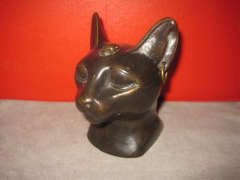 "Bronsfigurin ""Bastet,Egyptian Cat Goddess"""