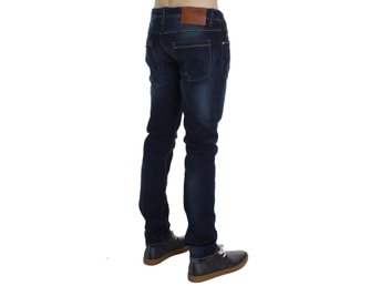 ACHT - Blue Wash Denim Cotton Stretch Slim Fit Jeans