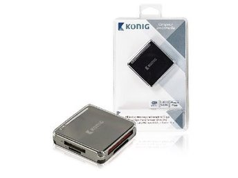 König Kortläsare All-In-One USB 3.0 Svart