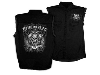 Ride of Die Denim Sleeveless Shirt XX-Large.