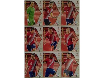 Panini Adrenalyn World Cup RUSSIA 2018 - COSTA RICA - 9 x Team mates