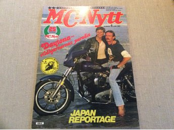 MC-NYTT nr 6 1983 Daytona,Honda XLV 750,Neval MT sidov,Cross Hallman,Tibban,bill