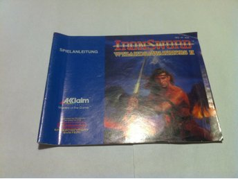 NES Manual: Iron Sword Wizard & Warriors II (End man, Tysk)