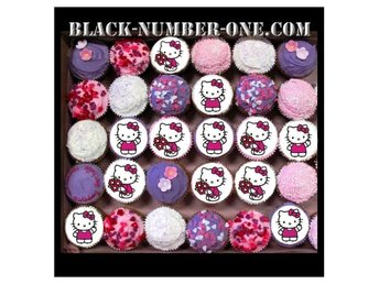HELLO KITTY tårtoblater - Cake / Muffin toppers