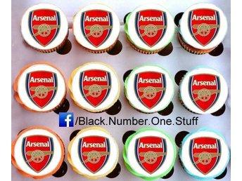 Arsenal tårtoblater - Tårtbild - Cupcake / Muffin toppers - Kolvereid - Arsenal tårtoblater - Tårtbild - Cupcake / Muffin toppers - Kolvereid