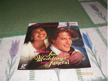 Four weddings and a funeral (Laserdisc) + bonus The Hunger Games catching fire