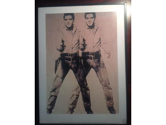 andy warhol screenprint two Elvis visual arts neues new york 40x30 cm