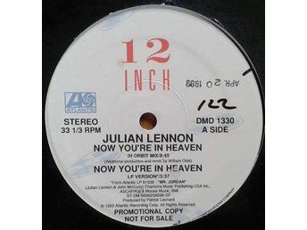 "Julian Lennon title *Now You're In Heaven* House, Synth-pop 12"", Promo US"