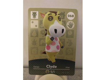 Animal Crossing Amiibo Welcome Amiibo card nr 068 Clyde
