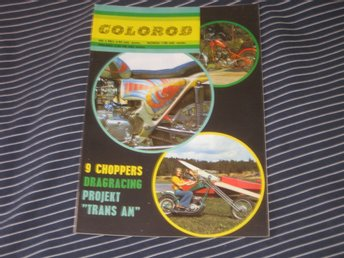 COLOROD nr 4 1972 Hot Rod Chopper HD Trans Am Honda Santa Pod Drag Racing 750