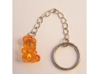Orange björn nyckelring / Orange bear keyring