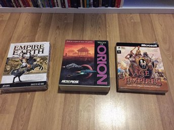 Empire Earth, Master of Orion, Age of Empires bigbox