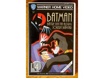 Batman the animated series Nr. 4 Avsnitt 1 och 2 VHS Svenska
