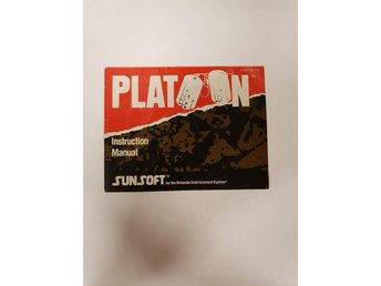 Platoon - Manual NES NINTENDO - USA