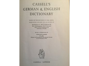 Cassels German -English Dictionary