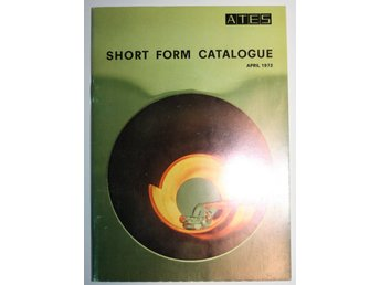 ATES Short Form Catalogue