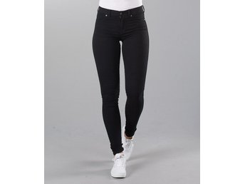 Nya jeans Dr.Denim Plenty super stretch svart stlk S från nelly fest trend