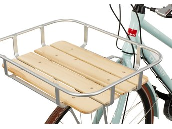 Cykelkorg silver och trä - Red Cycling Products Front Tray