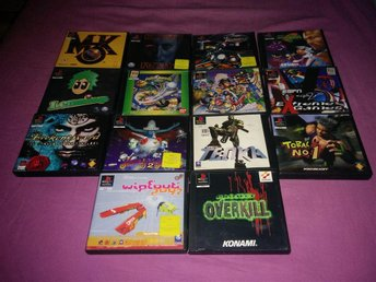14 PlayStation 1 spel! WipeOut 2097, Mortal Kombat 3 osv.