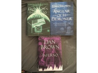 Dan Brown. I cirkels mitt, änglar och demoner & inferno - Upplands Väsby - Dan Brown. I cirkels mitt, änglar och demoner & inferno - Upplands Väsby