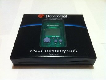 Dreamcast: Visual Memory Unit (VMU) Sega Original Grön Ny!