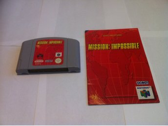 N64: Mission: Impossible (Kassett+manual OBS!! TYSK TEXT!)