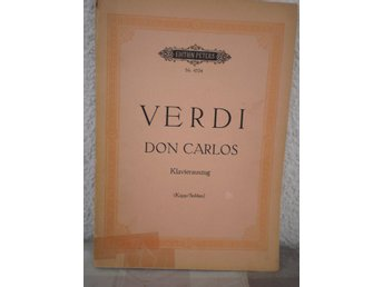 Verdi - Don Carlos - Tysk text