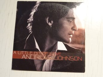 ANDREAS JOHNSON A little bit of love Melodifestivalen 2007 CD Singel