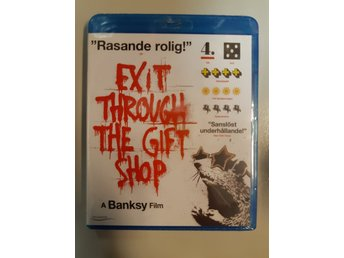 Blu-ray Exit Through The Gift Shop Banksy Svensk text INPLASTAD