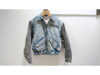 Jacka Ultimate Vintage Levis Blue Acid Wash Denim San Francisco Sherpa 80-tal