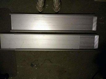 Två Stycken Aluminium Lastramp en meter till två meter långa fin kvalite - Höör - Två Stycken Aluminium Lastramp en meter till två meter långa fin kvalite - Höör