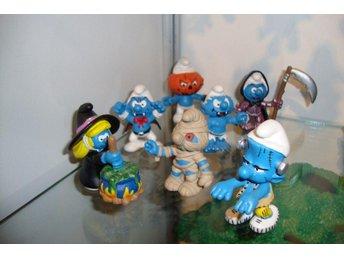 Halloween Smurfar (7 plastfigurer) - Helsingborg - Halloween Smurfar (7 plastfigurer) - Helsingborg