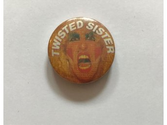 Vintage pin Twisted Sister 80tal Made in England Dee Snider